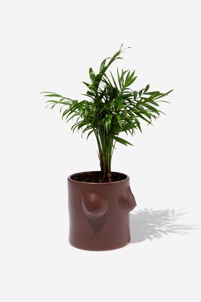 Small Shaped Planter, BOOBS TAN