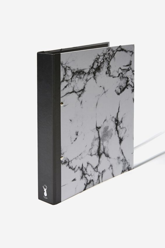 A4 Ring Binder, WHITE MARBLE