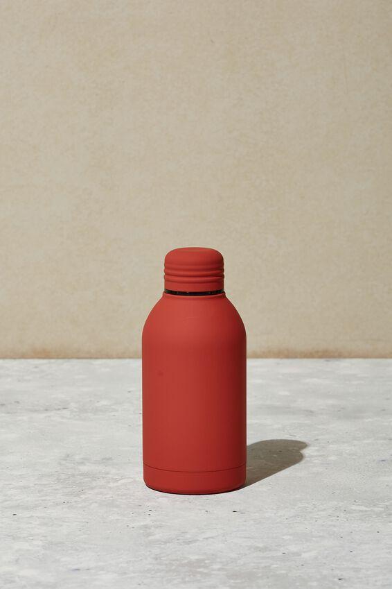 Mini Metal Drink Bottle, PL RUBBER RUST