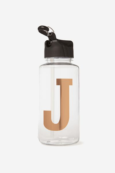 Alphabet Drink Bottle, ROSE GOLD J