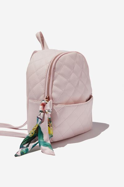 Mini Cairo Backpack, BLUSH QUILTED
