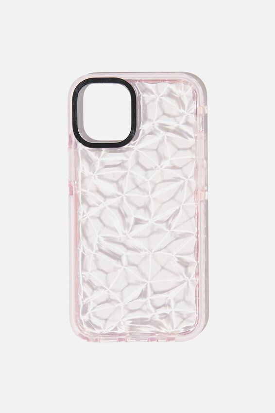 Protective Phone Case Iphone 12 Mini, CLEAR DIAMOND TEXTURE