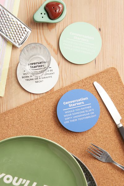 Novelty Coasters, CONVERSATION STARTERS