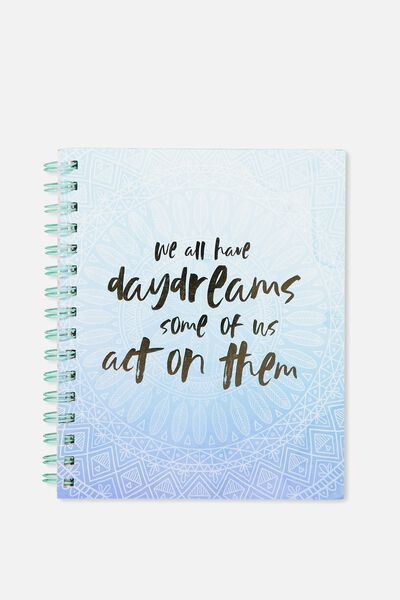 Medium Campus Notebook - 240 Pages, DAYDREAMS MANDALA