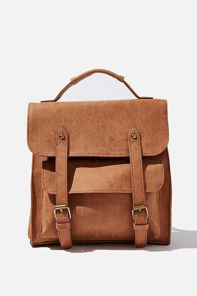 Buffalo Satchel Backpack, MID TAN