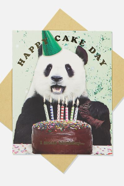 Funny Birthday Card, HAPPY CAKE DAY PANDA