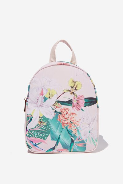 Mini Arch Backpack, BIRD OF PARADISE