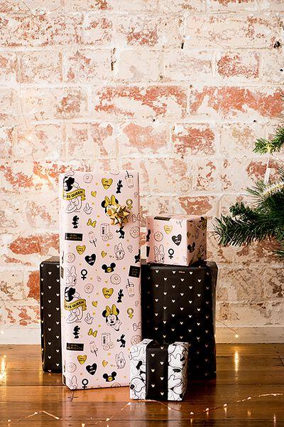 2017 Christmas Roll Wrap 3Pk, LCN MINNIE/DAISY