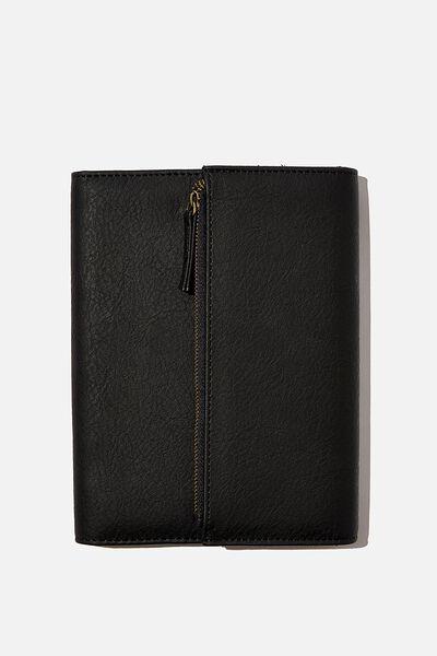 2021 Zip Pocket Diary, BLACK
