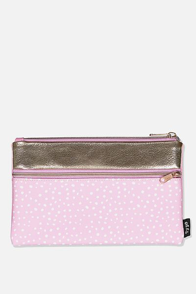 Archer Pencil Case, PINK SPECKLE