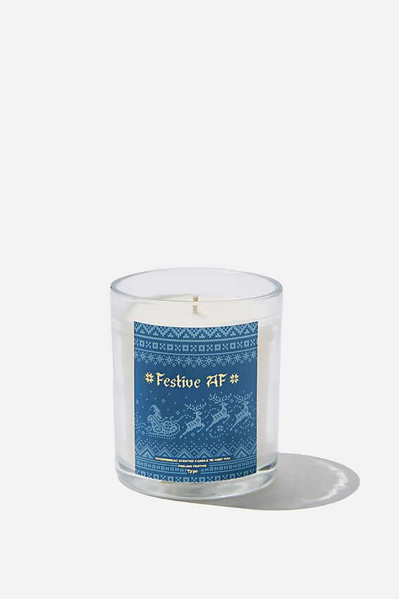 Quote Candle, FESTIVE AF!
