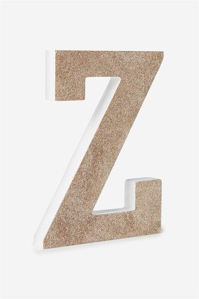 Glitter Letterpress, PALE GOLD GLITTER Z