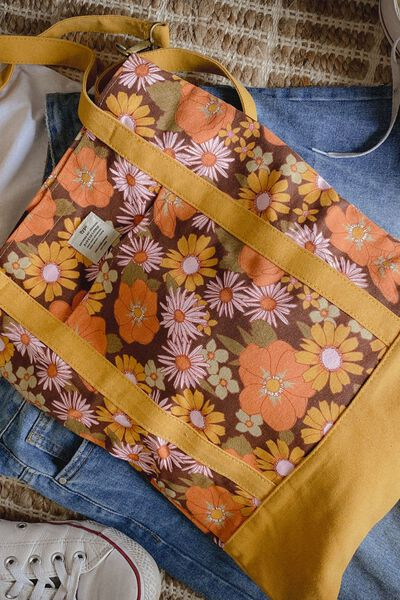 Book Tote Bag, STEVIE FLORAL RUST