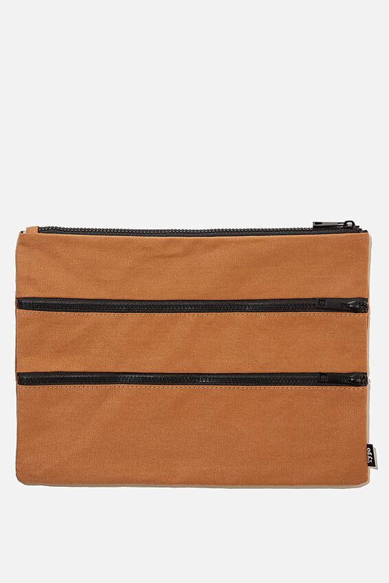 Keep It Together Pencil Case, MID TAN CANVAS