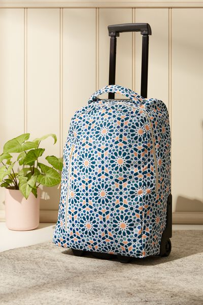 Soft Shell Suitcase, MOROCCAN TILE PRINT