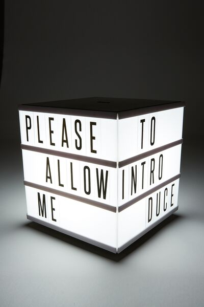 Cube Light Box, BLACK