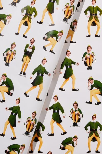 Christmas Wrapping Paper Roll, LCN WB ELF