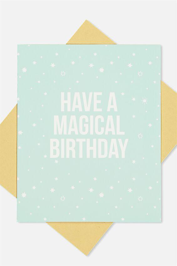 Nice Birthday Card, MAGICAL BIRTHDAY STARS