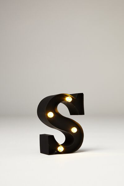 Mini Marquee Letter Lights 10cm, BLACK RUBBER S