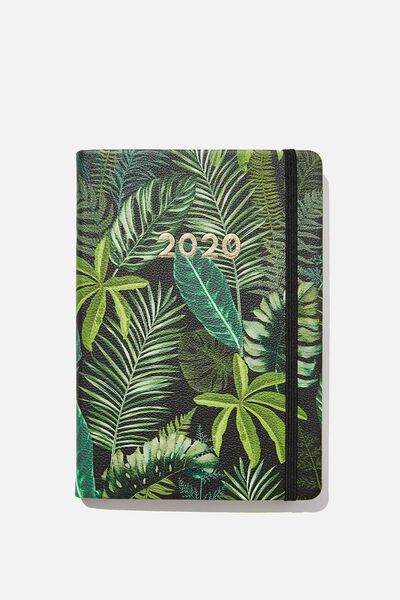 2020 A5 Weekly Buffalo Diary, FERN FOLIAGE