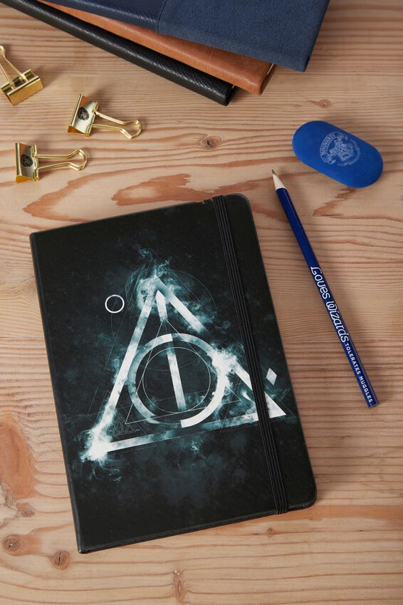 A5 Licensed Buffalo Journal, LCN HARRY POTTER GREEN HALLOWS