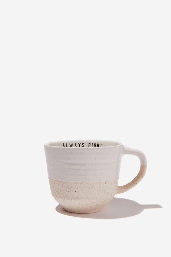 Oversized Mug, NATURAL