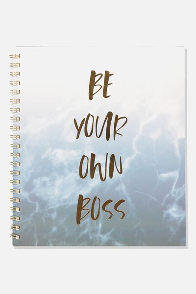 College Ruled Campus Notebook - V, BE YOUR OWN BOSS MARBLE