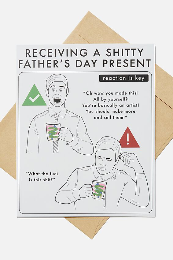 Fathers Day Card 2020, SHITTY PRESENT REACTION GUIDE!!