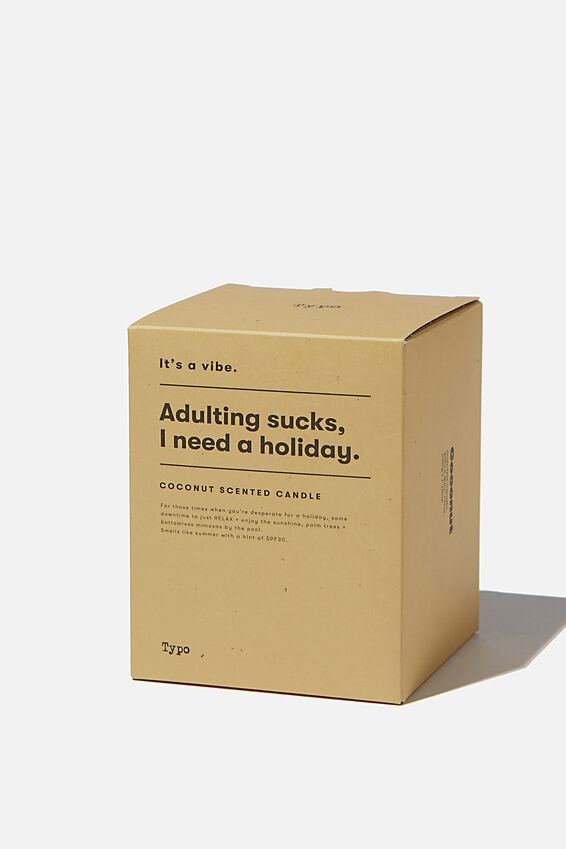Its A Vibe Candle, MUSTARD ADULTING SUCKS