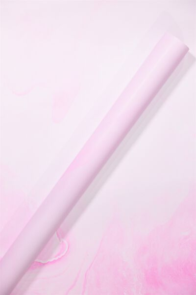 Roll Wrapping Paper, PINK MARBLE