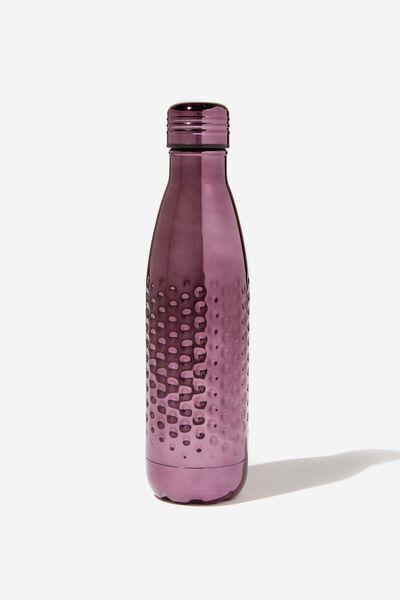 Premium Metal Drink Bottle, HAMMERED MAUVE