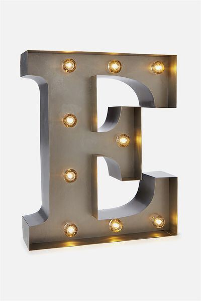 Small Marquee Letter Lights 23cm, SILVER E