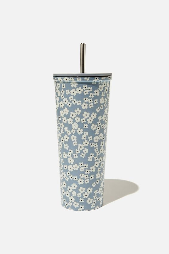 Metal Smoothie Cup, CHERRY BLOSSOM GREY
