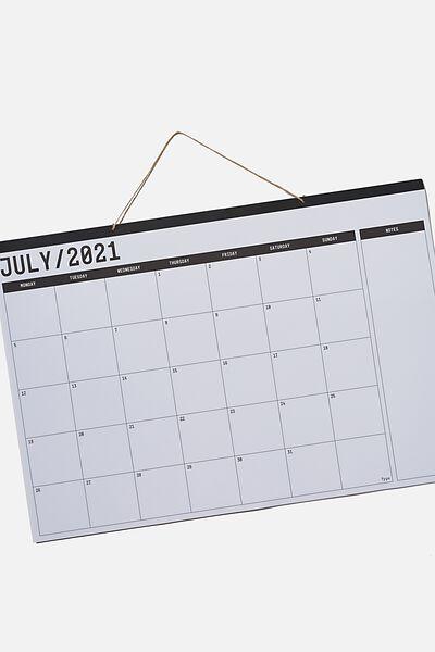 2021 22 A1 Hanging Calendar, WHITE