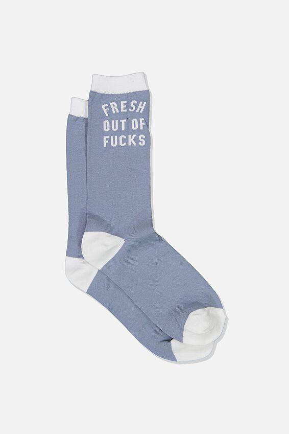 Mens Novelty Socks, FRESH OUT OF F*CKS!!