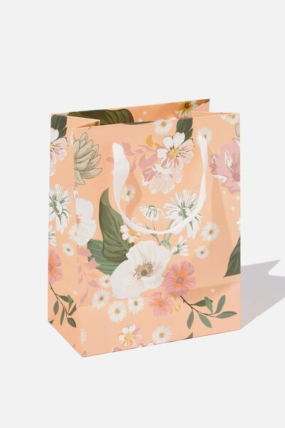 Small Stuff It Gift Bag, PINK FLORAL
