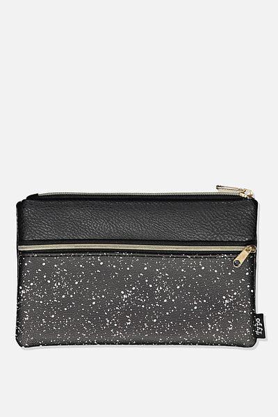 Archer Pencil Case, BLACK SPLATTER
