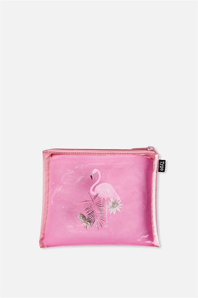 Spinout Pencil Case, FLAMINGOS