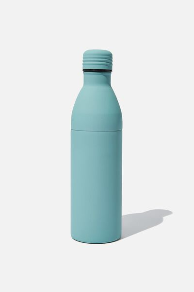 Two Piece Metal Drink Bottle, PL RUBBER SOFT MOSS