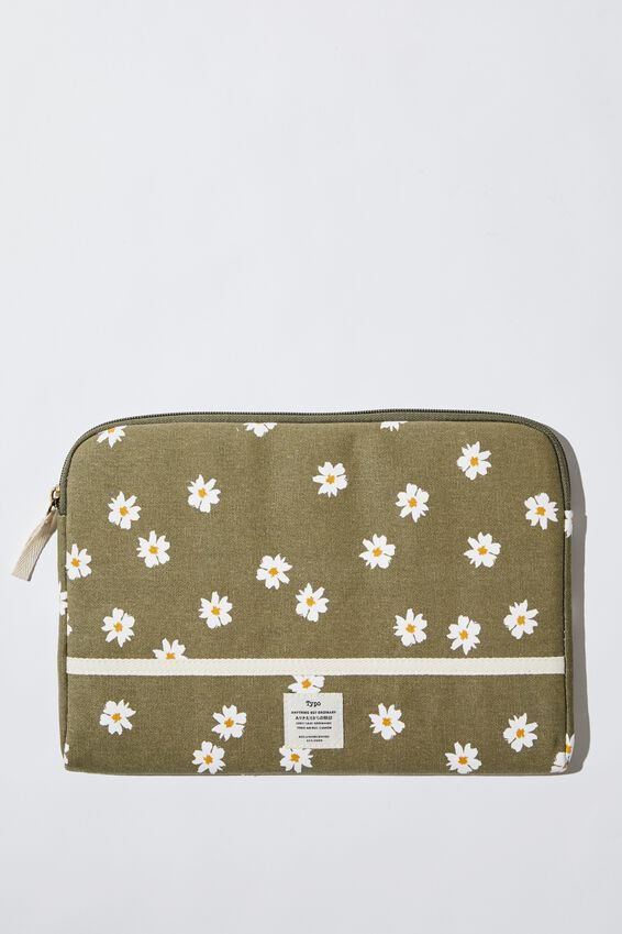 "Take Me Away 11"" Laptop Case, DAISY KHAKI"