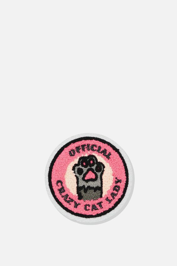 Fabric Badge, CAT LADY