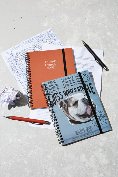 A5 Spinout Notebook Recycled, GUESS WHOS SINGLE!