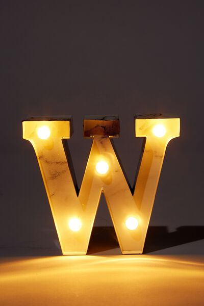 Mini Marquee Letter Lights 3.9inch, MARBLE W