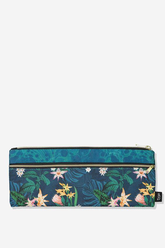 Patti Pencil Case, JUNGLE FLORAL