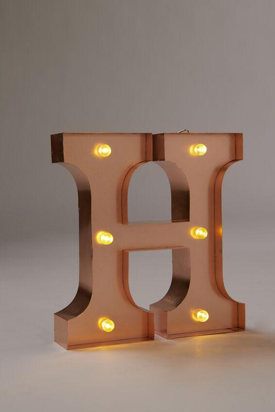 Marquee Letter Lights Premium 16cm Midi, ROSE GOLD H