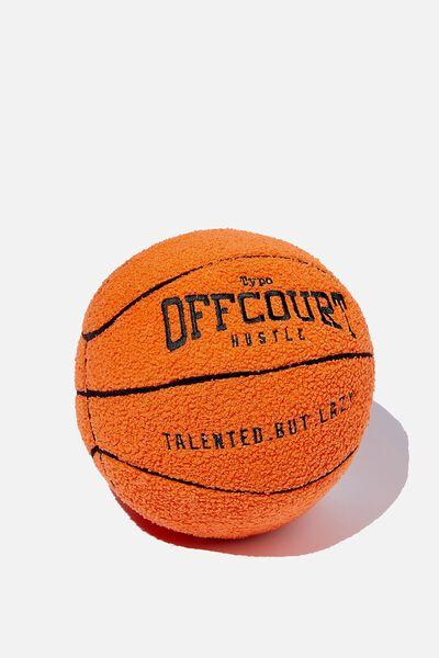 Boucle Get Cushy Cushion, BASKETBALL ORANGE