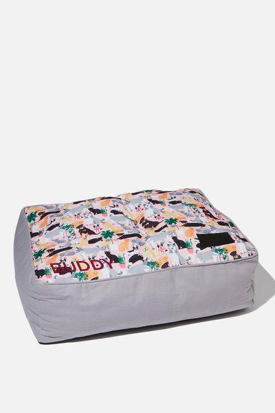 Personalised Large Printed Pet Bed, DOGGO PRINT