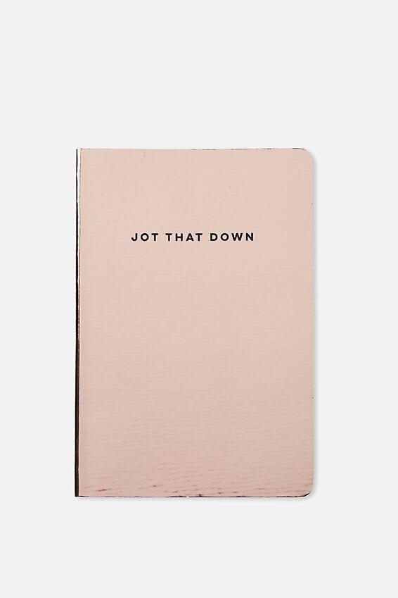 A5 Medium High Shine Notebook, ROSE GOLD
