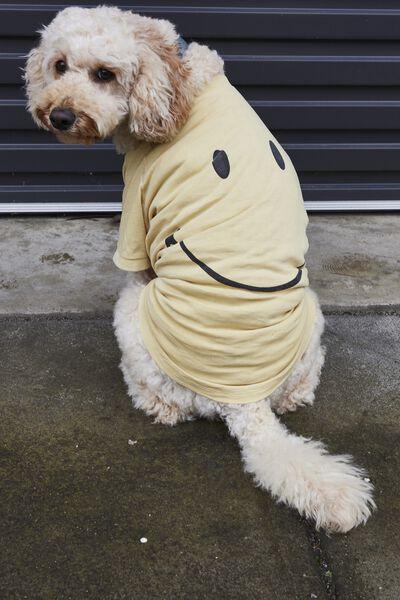 Dog Tee, LCN SMI SMILEY YELLOW