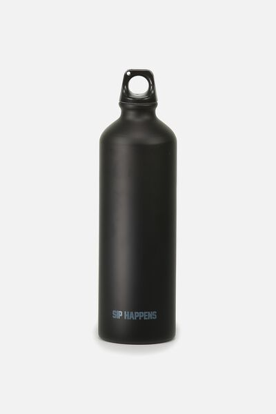 Single Wall Metal Drink Bottle, SIP HAPPENS